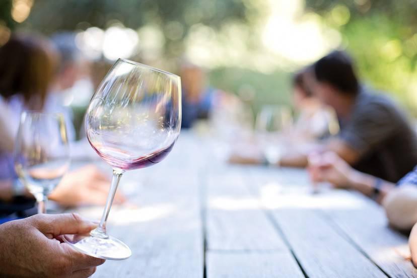 Bicchiere di vino (Pixabay)
