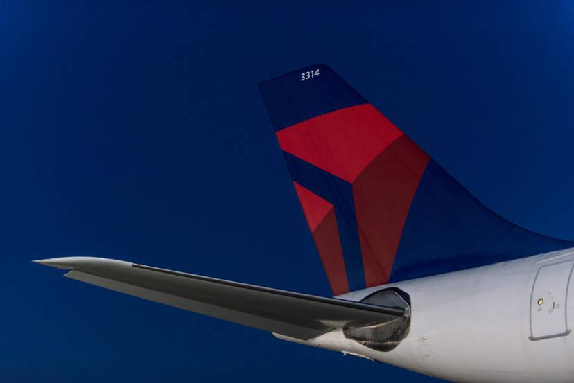 Detail of Airbus 330-300 tail.  -  These images are protected by copyright.  Delta has acquired permission from the copyright owner to the use the images for specified purposes and in some cases for a limited time.  If you have been authorized by Delta to do so, you may use these images to promote Delta, but only as part of Delta-approved marketing and advertising.  Further distribution (including proving these images to third parties), reproduction, display, or other use is strictly prohibited.