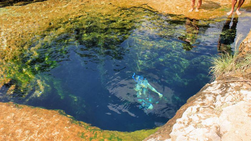 Jacob's Well, Texsas (Foto di Larry D. Moore. Licenza CC BY-SA 4.0 via Commons)