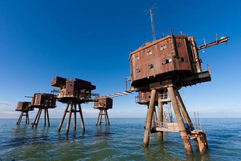 Fortezze marittime Maunsell, Regno Unito (Foto di Russss. Licenza CC BY-SA 3.0 via Wikimedia Commons
