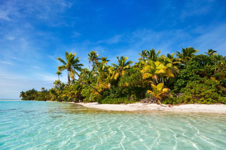 Stunning tropical beach at exotic island in Pacific
