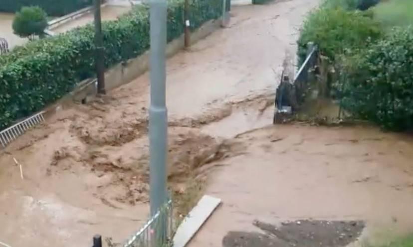 La furia dell'acqua (Screenshot YouReporter.it)