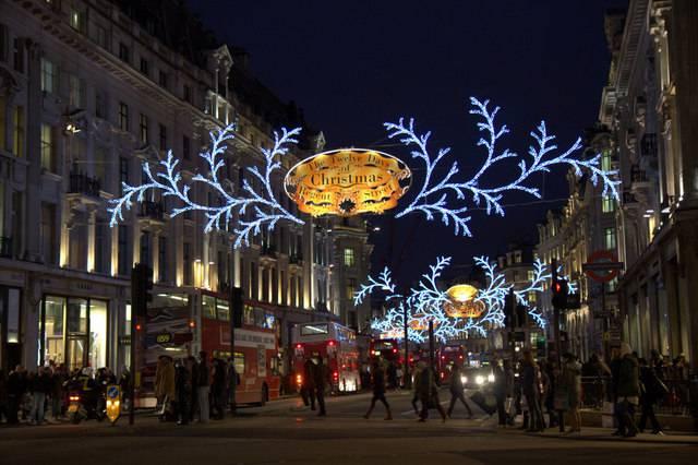 Londra, Regent Street a Natale