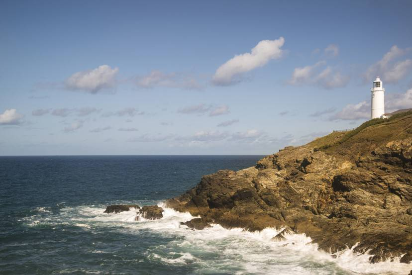Vibrant Summer landscape image of Trevose head in Cornwall