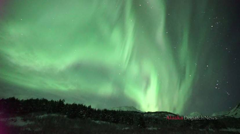 Aurora boreale Alaska (Screenshot YouTube)