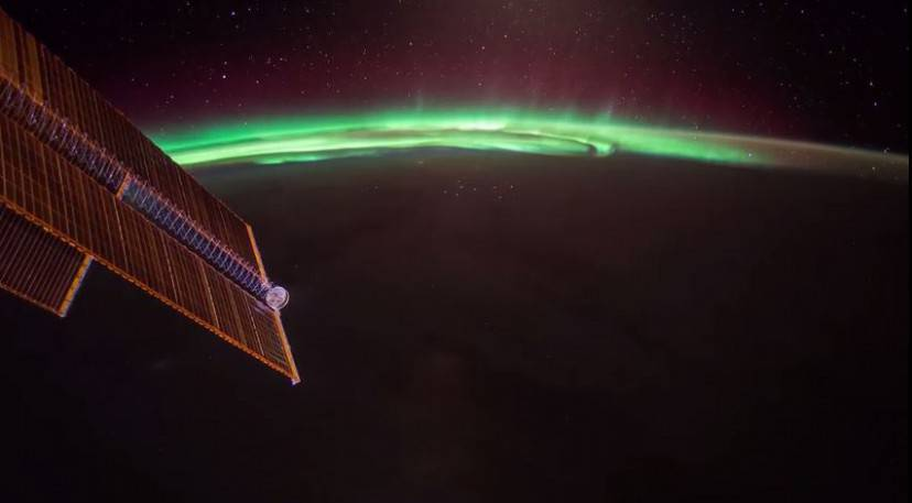 Aurora Boreale dalla Iss (Screenshot YouTube)