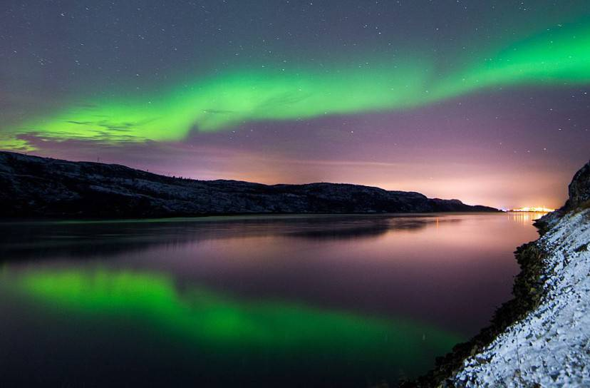 Aurora Boreale a Kirkenes, Norvegia (JONATHAN NACKSTRAND/AFP/Getty Images)