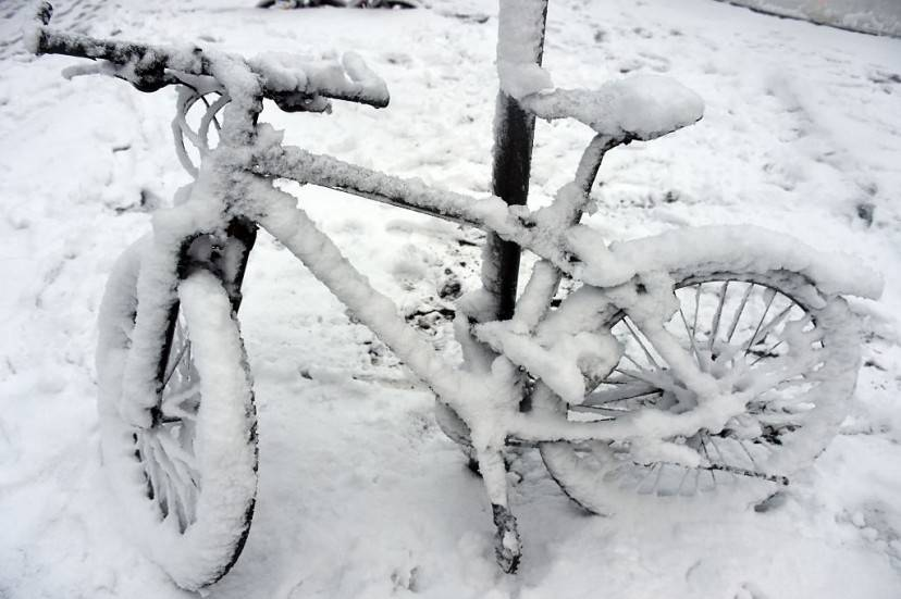 Neve ad Amburgo (MARCUS BRANDT/AFP/Getty Images)