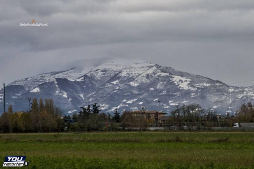 Neve in provincia di Bergamo, a Dalmine (YouReporter.it)