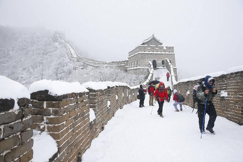 Neve sulla Grande Muraglia cinese (Lintao Zhang/Getty Images)