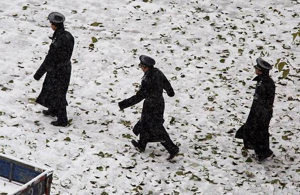 Neve a Pechino (Kevin Frayer/Getty Images)