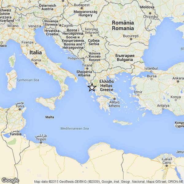 Terremoto in Grecia del 17 novembre 2015 (Immagine Google- Ingv)