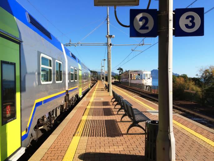 Train station of Genoa Nervi.