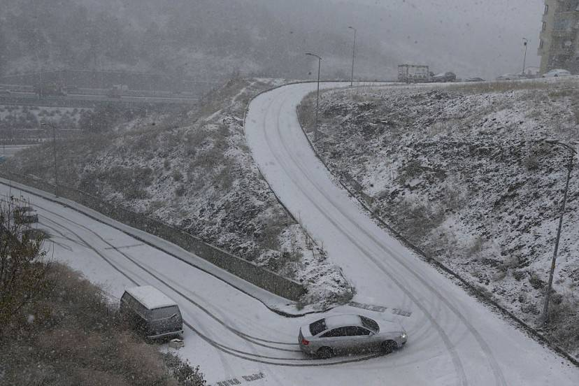 Neve ad Ankara, Turchia (ADEM ALTAN/AFP/Getty Images)