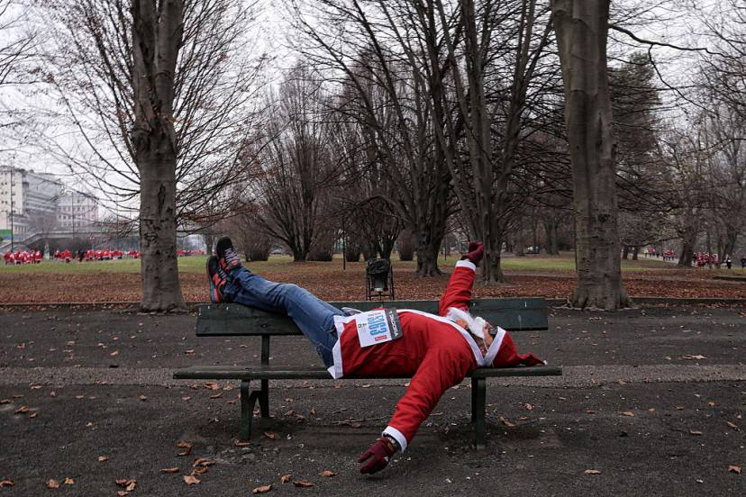 Babbo Natale a Torino (MARCO BERTORELLO/AFP/Getty Images)