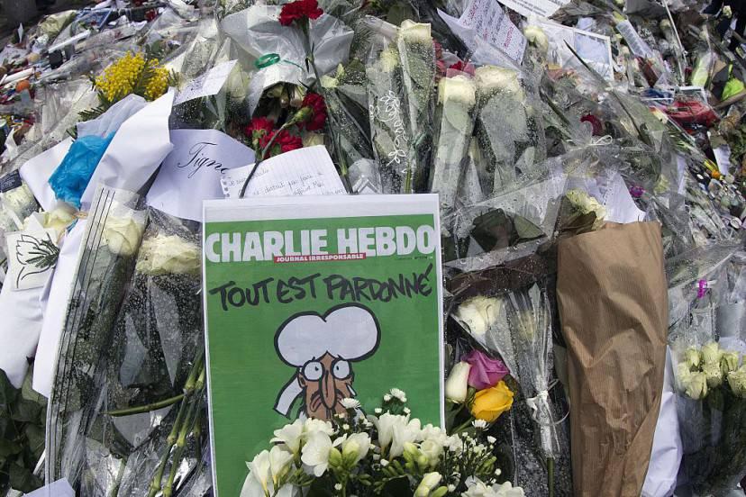 Omaggio a Charlie Hebdo (JOEL SAGET/AFP/Getty Images)