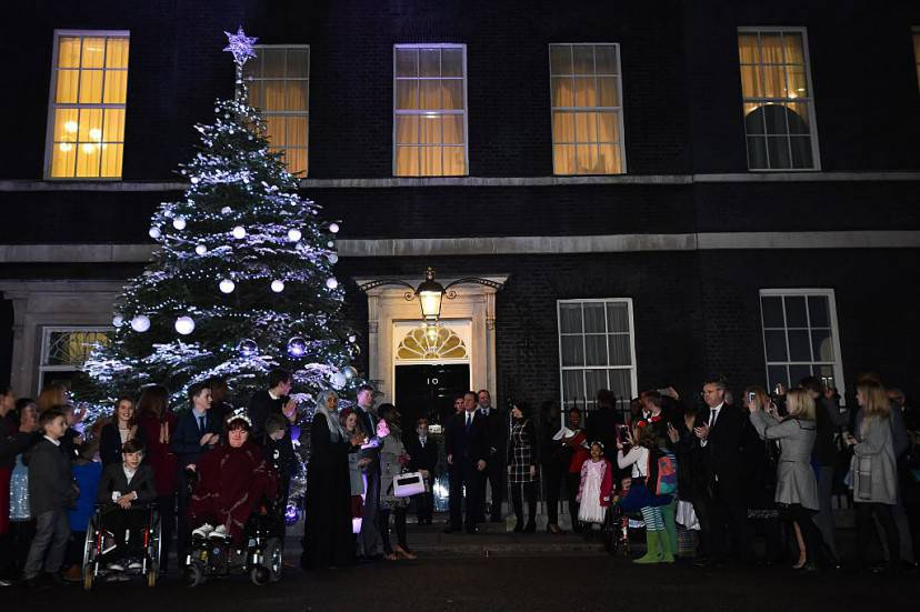 Albero di Natale a Downing Street, Londra (BEN STANSALL/AFP/Getty Images)