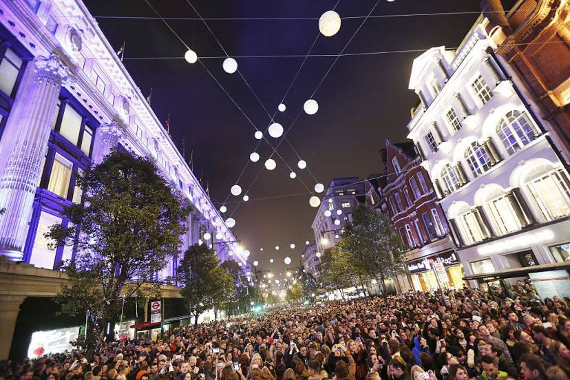 Natale a Oxford Street, Londra (Tabatha Fireman/Getty Images for New West End Company)