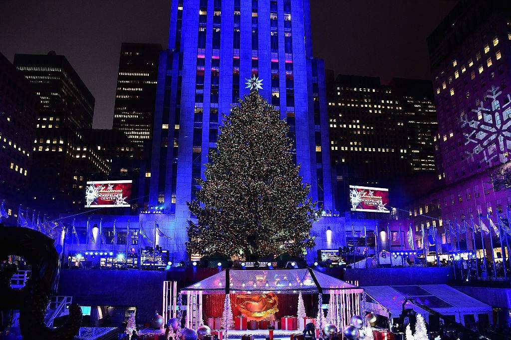 Albero Di Natale New York.Natale A New York Acceso L Albero Di Rockefeller Center Foto