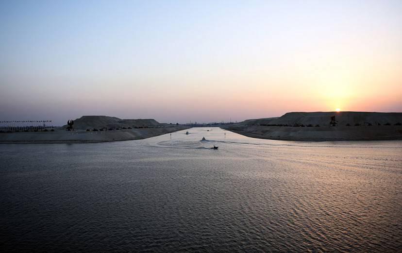 Inaugurazione del nuovo Canale di Suez ampliato (MOHAMED EL-SHAHED/AFP/Getty Images)