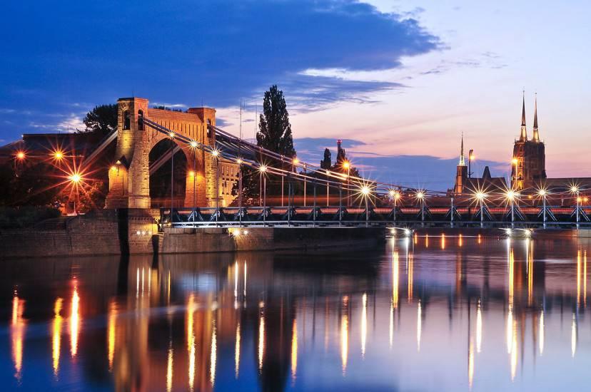 Breslavia, Ponte Grunwaldzki (Foto di Wacki4. CC BY-SA 3.0. Wikipedia)