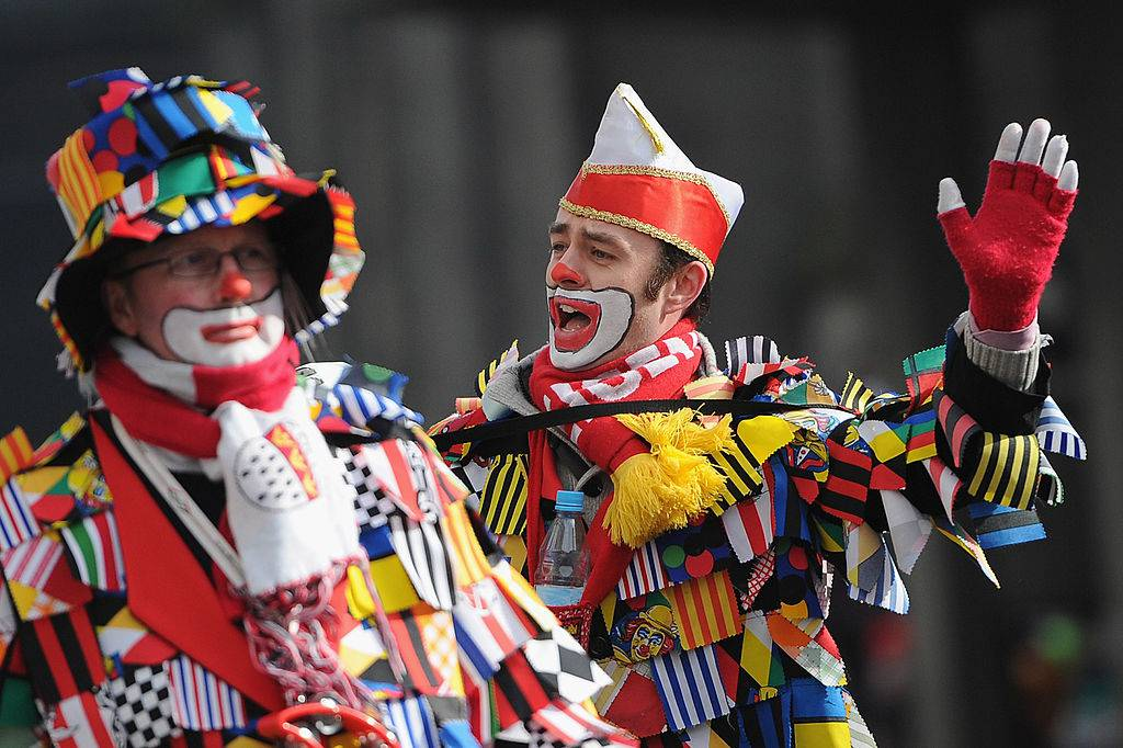 COLOGNE, GERMANY - FEBRUARY 20:  Carnival revelers arrive for the Rose Monday parade on February 20, 2012 in Cologne, Germany. Rose Monday is the highpoint of the Carnival season, which traditionally runs from Epiphany until Ash Wednesday, and is celebrated in cities throughout the Rhine region of western Germany.  (Photo by Dennis Grombkowski/Getty Images)