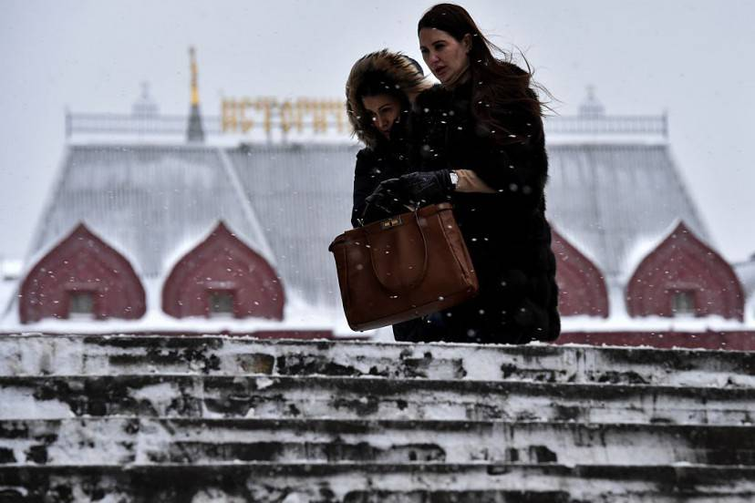 Neve a Mosca (KIRILL KUDRYAVTSEV/AFP/Getty Images)