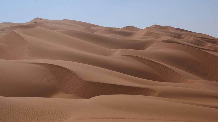 Il deserto di Rub' al-Khali, Penisola araba (Foto di Nepenthes. CC BY-SA 3.0 via Wikimedia Commons)