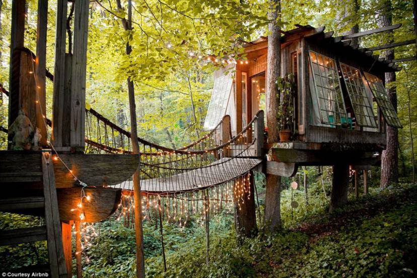 Secluded Intown Treehouse (Airbnb)