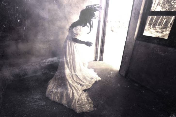 White Dress Woman in Haunted House