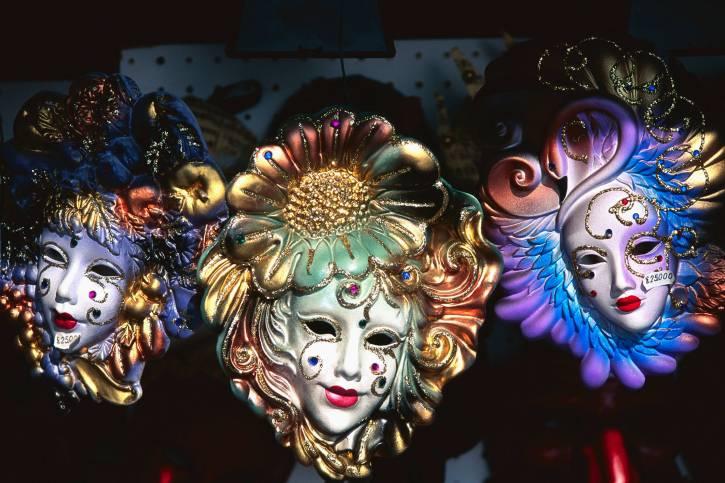 Festive Venetian Carnival Masks
