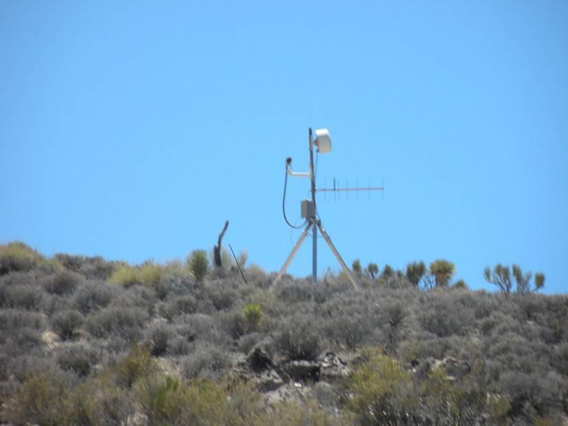 Videocamera di sicurezza nell'Area 51 (Foto di Jimderkaisser. CC BY-SA 3.0 via Commons)