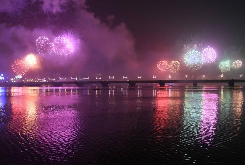 Capodanno ad Abidjan, Costa D'Avorio (SIA KAMBOU/AFP/Getty Images)