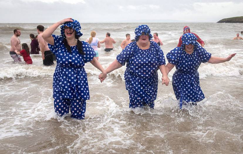 Bango di Capodanno a Barry Island, Galles (Matt Cardy/Getty Images)