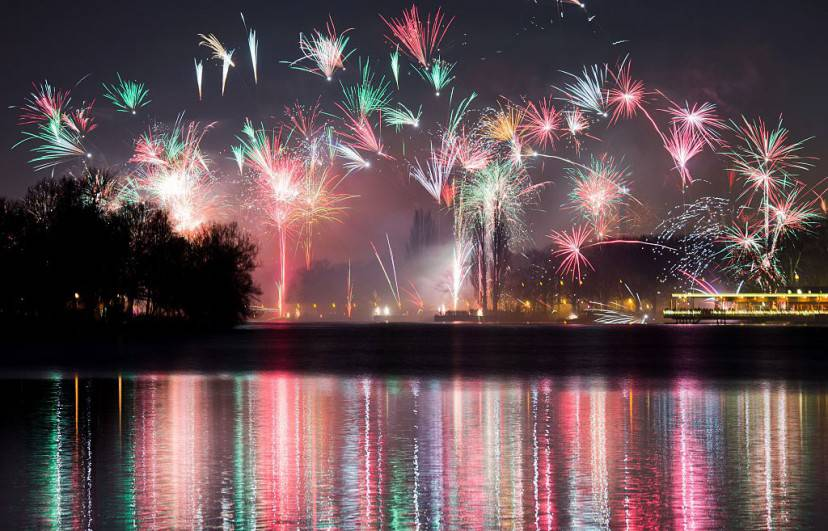 Capodanno ad Hannover (JULIAN STRATENSCHULTE/AFP/Getty Images)