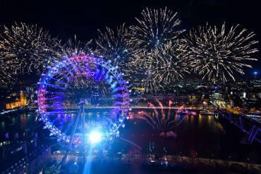 Capodanno 2016 a Londra (Ben Pruchnie/Getty Images)