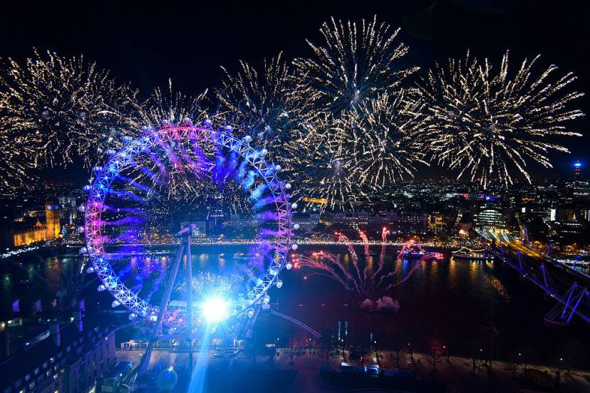 Capodanno 2016 a Londra (Ben Pruchnie/Getty Images)