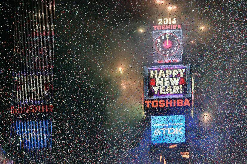 Capodanno a New York (Eugene Gologursky/Getty Images for TOSHIBA CORPORATION)