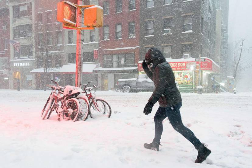 Tempesta Jonas a New York (FRANCOIS XAVIER MARIT/AFP/Getty Images)