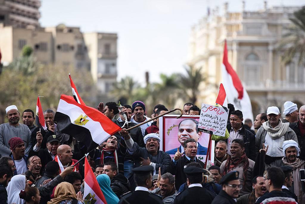 La manifestazione a Il Cairo dello scorso 25 gennaio MOHAMED EL-SHAHED/AFP/Getty Images