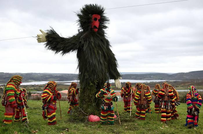 Caretos al Carnevale di Podence, Portogallo (FRANCISCO LEONG/AFP/Getty Images)