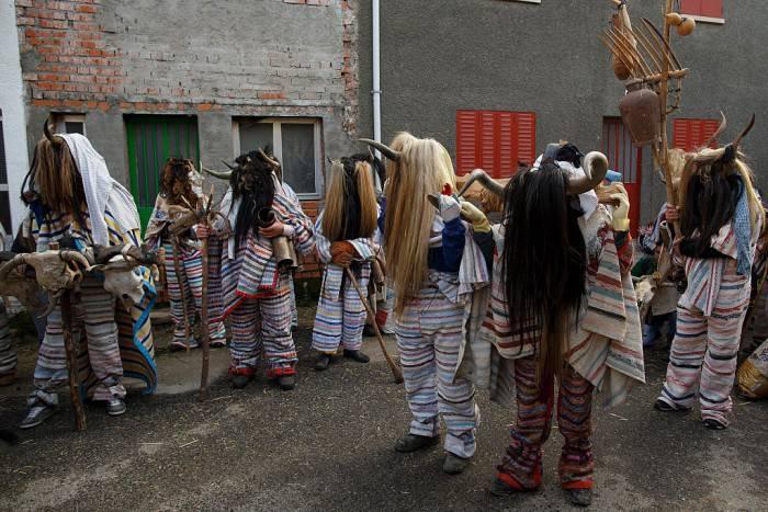 Cucurrumachos al Carnevale di Navalosa, Spagna (Pablo Blazquez Dominguez/Getty Images)