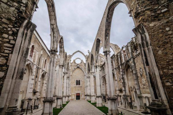 Chiesa del Convento del Carmo, Lisbona, Portogallo