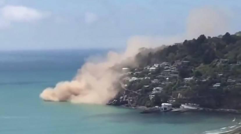 Terremoto con crollo in Nuova Zelanda (Screenshot)