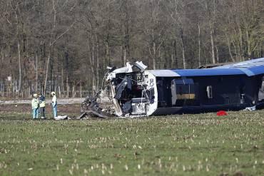 Treno deragliato in Olanda a Dalfsen (VINCENT JANNINK/AFP/Getty Images)