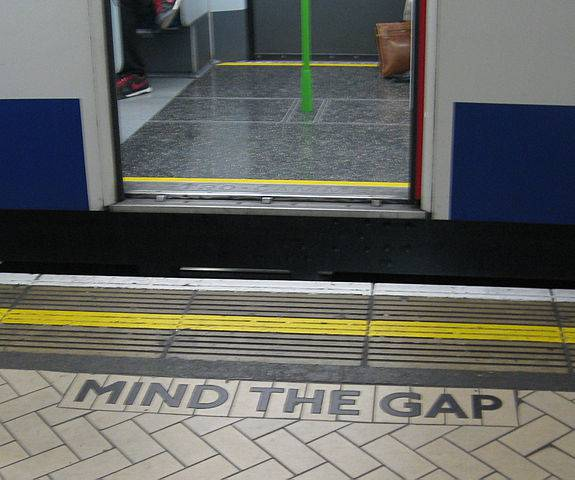 Mind the gap (Di WillMcC, CC BY-SA 3.0, Wikicommons)
