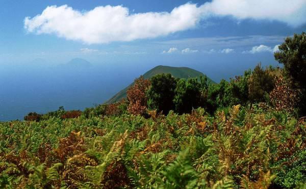 Isola di Salina. da Monte Fossi delle Felci (Di Hase, CC BY-SA 3.0, Wikicommons)
