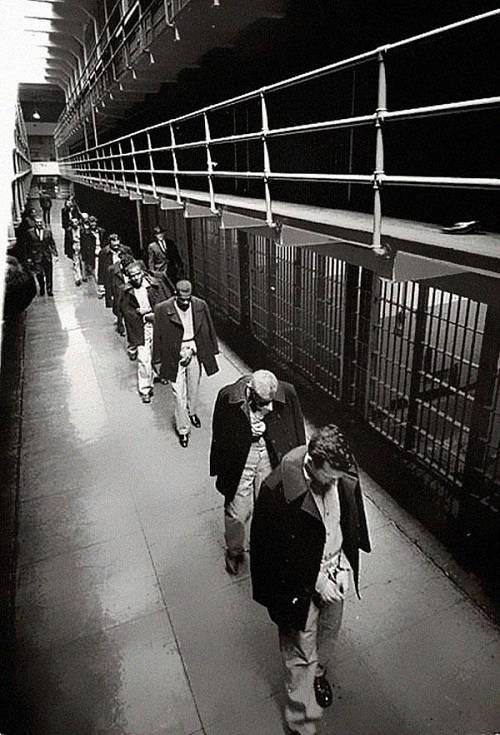 Gli ultimi prigionieri di Alcatraz nel 1963
