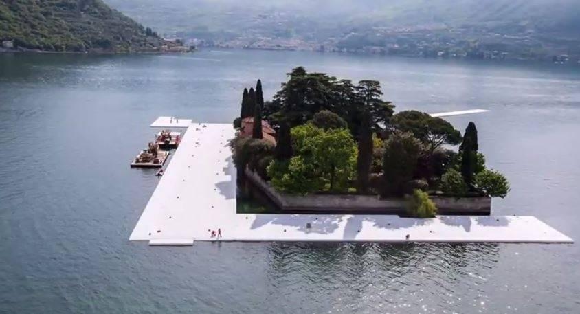 Il ponte di Christo intorno all'Isola di San Paolo del Lago d'Iseo (Screenshot)