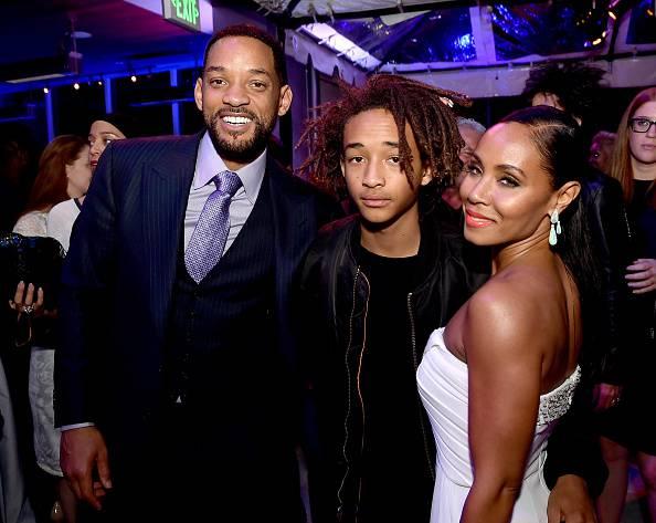 Will Smith con la moglie e uno dei figli
